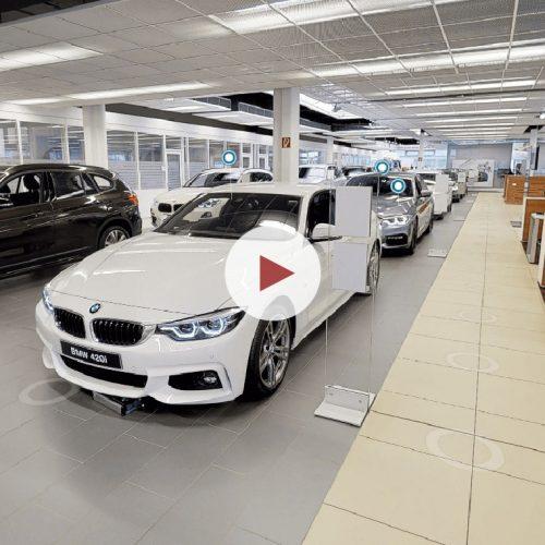 Virtueller Rundgang von airmess in der Dresdner BMW Niederlassung